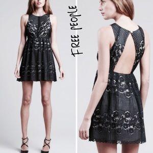 FREE PEOPLE Rocco black lace dress